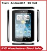 "7"" Android 2.3 tablet pc 3g call MTK6573 dual core Dual camera GPS Bluetooth"