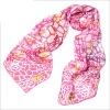 silk printed square scarf