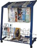 Newspaper display rack,Iron tube newspaper rack
