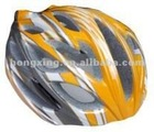 Bicycle helmet cycling helmet in orange and white