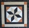 Mosaic tile marble medallion