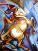 abstract horse oil paintings --reproduction