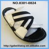 high quality leather children slipper