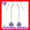 Fashion Dangling Czech Crystal Earring, Crystal Earring Long
