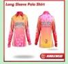 2012 Latest Nimblewear sportwear Recycle Material digital sublimation Long sleeve T-shirt/Polo shirt