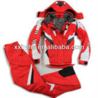 new product warmth and breathable and water proof PTFE ski suit set with adjustable hat