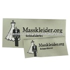 Woven label for garment neck clothing
