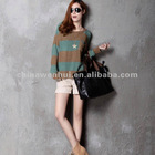 fashion striped knitted sweater 2012