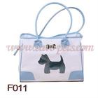 F011 40*19*28 CM White &Pink PVC Material Pet Carrier MOQ is 1000pcs/item 1pc/opp bag Drop Shipping