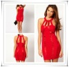2013 S/S Latest Design Red Panelled Bodycon Prom Dress,Ladies Prom Dress