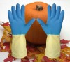 Two Colors Latex Household Gloves
