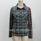 Latest New Design Fashion Cotton Checked Shirt for Women