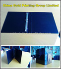 Black Y-D Ring Binder with clear PVC overlay