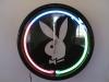 three color neon clock