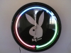 three color neon clock