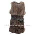sheep fur vest with fox fur