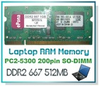 DDR2 667 512MB Laptop RAM Memory