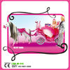 fashion prince and princess with light musical toy carriage
