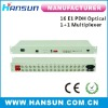 16E1 PDH optical multiplexer fiber 1+1 with 100M Ethernet 1 rs232