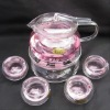 Chinese Style decal Heat-resistant glass tea set