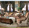 European antique style Coffee brown color Living room sofa sets furniture OMJ-ED-091