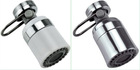 1.5 GPM Dual-Thread Brass/POM Swivel Kitchen Aerator - Chrome & White with Pause Valve