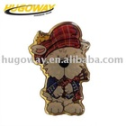 2012 cute bear alloy Lapel pins for Christmas souvenir
