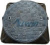 round cover with square frame D400 manhole cover