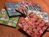 square multi-colour mosaic glass coasters