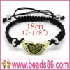 Fashion Heart Shape Green Color Bracelet De Shamballa De Drapeau Bracelet BD-006
