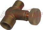Gas pipe fittings with vavle