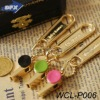 Golden Charm Alloy Design Whistle Shaped Costume Jewelry Pendant