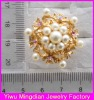 top selling alloy rose rhinestone pearl gold ring designs