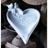 Cast Iron Decorative Birdfeeder, Birdbath with heart-shape dish and lovely birds