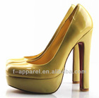 Western hot style latest women italian leather shoes style