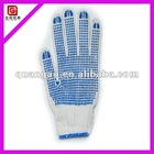 Industrial pvc dotted cotton gloves