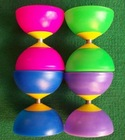plastic toy/small rubber bowl/diabolo