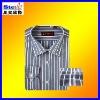 ST-SH09#men's dress shirt/business shirt stripe best quanlity cowboy cotton
