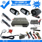 The Latest Passive keyless entry GSM car alarm,bypass module isoptional,learning code,,mobile start,remote start,CE PASSED