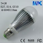 Aluminum 7w LED bulb lights