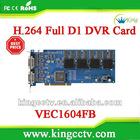 Dahua cctv pci card VEC1604FB H.264 16chs video&audio TI TMS320DM645 realtime D1