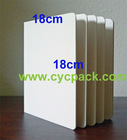 18x18cm children art material suppliers 10 page, 5 spread sheet, 400gsm card paper, board book binding, round corner