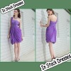 SC0006 One-shoulder Purple Side Draped New Design Short Prom Dresses