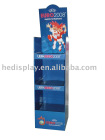 sports carton floor display stand with 3 shelves