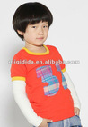 2012 Wholesale Korean newest design children clothes boys leisure longsleeve t-shirt