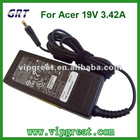 laptop AC adapters for Acer 19V 3.42A
