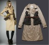 2012 Autumn/Winter Fashion Double breasted Trench Coat Women Celebrity Coat Outwear winterbreaker plus size XXL bb003