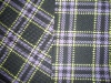 60%wool purple check tartan plaid twill tweed weave fabric for lady men women clothes garment jacket
