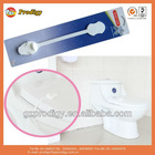 Plastic baby safety toilet door lock