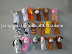 Cute plush animal finger puppet toys